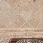 Tumbled Troy tile back-splash