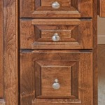 Alder cabinets raised panel drawers
