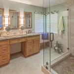 Master bath remodel with bench,vanity,custom mirrors....