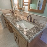 Desert Amarillo granite with Ogee Demi flat edge