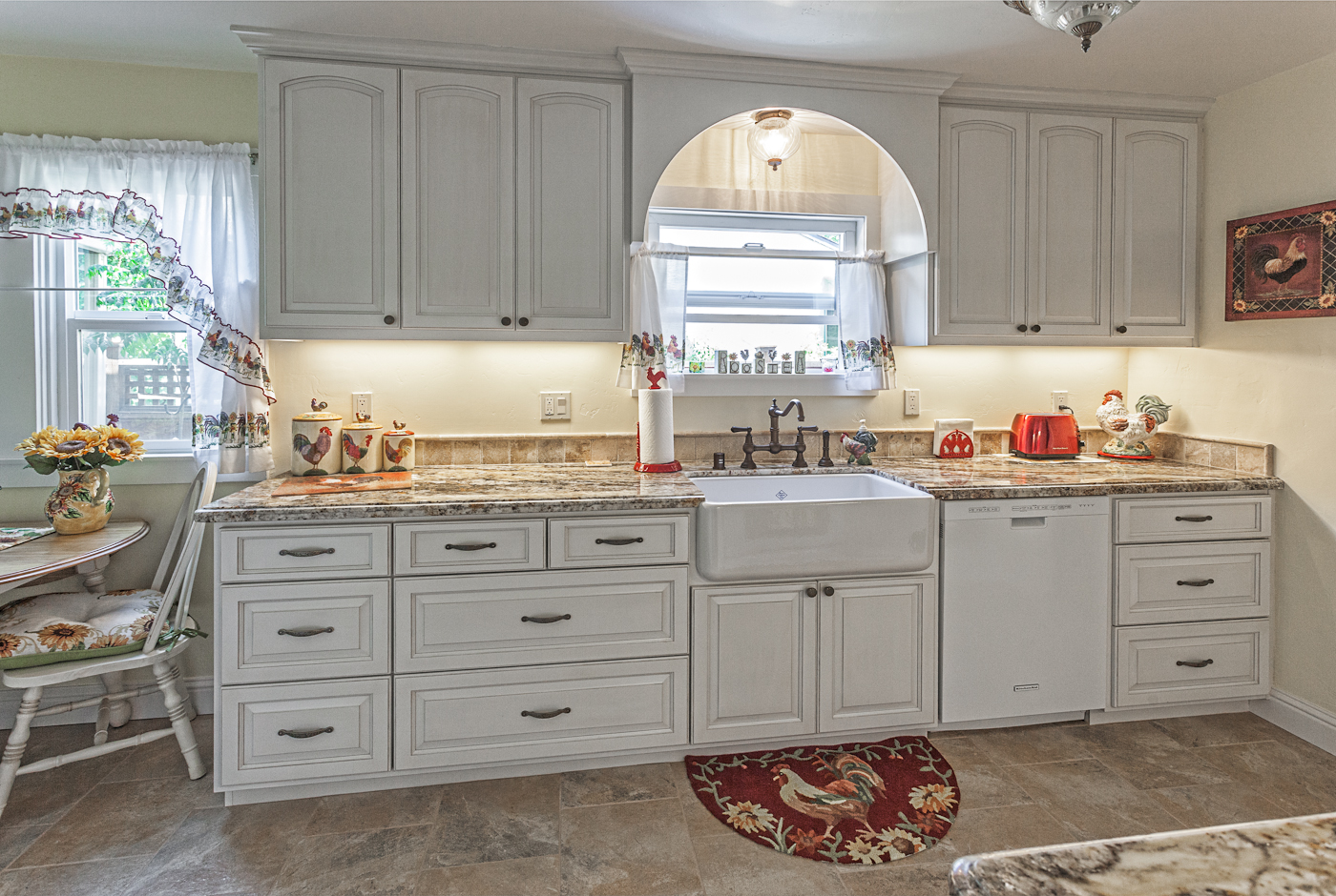 Kitchen case study white country cabinets for Turning a galley kitchen into an open kitchen
