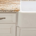 Granite to apron front sink detail
