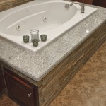 Jetted tub with Kashmire White granite deck