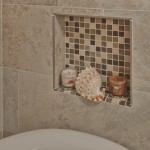 Custom niche with glass tile