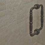 Oil Rubbed Bronze shower door handle
