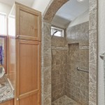 Custom arch shower entry