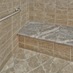Granite bench in shower