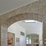 Custom tile archway to shower