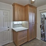 Pantry/hutch combo with under-cabinet lighting