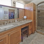 Custom bathroom with heated floors